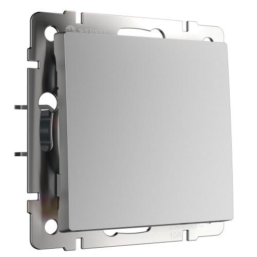 Выключатель 1кл. проходной серебро WL06-SW-1G-2W WERKEL