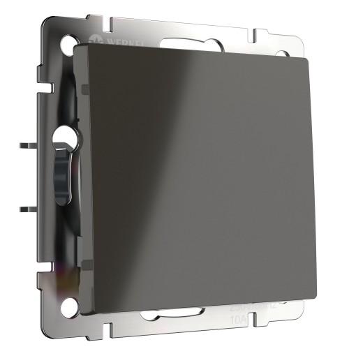Выключатель 1кл. проходной серо-коричневый WL07-SW-1G-2W WERKEL