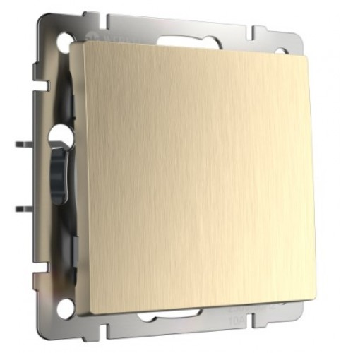 Выключатель 1кл. проходной шампань рифленый WL10-SW-1G-2w WERKEL
