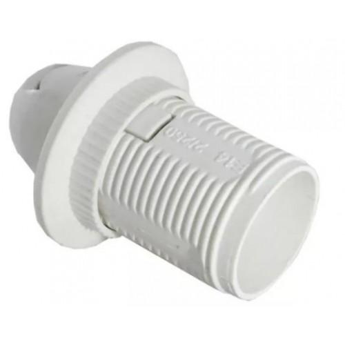 Патрон Е-14 с прижимным кольцом пластиковый белый 5560713 /91613