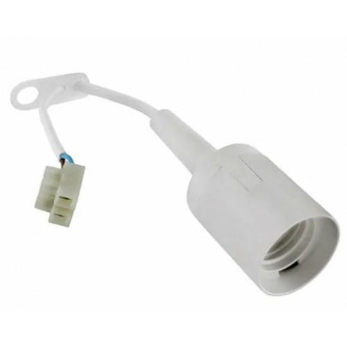 Патрон Е-27 подвесной термопластик с клем.колодкой 4А 250В белый UNIVersal/Электро 1351 (91619)