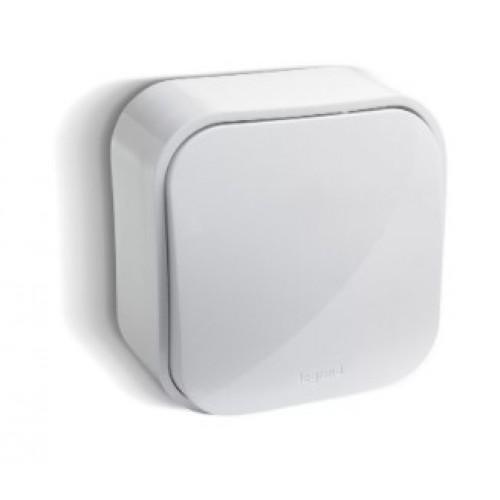 Выключатель QUTEO 1кл. откр. уст. 10А IP44 белый Legrand