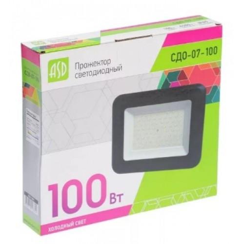 Прожектор светодиодный СДО-07-100 100 Вт 230В 6500К IP65 ASD