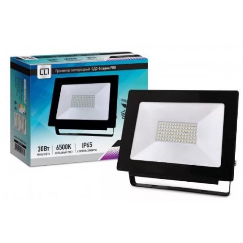 Прожектор светодиодный СДО-5-30 серии PRO 30 Вт 230В 6500К IP65 LLT