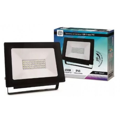 Прожектор светодиодный СДО-5-50 серии PRO 50 Вт 230В 6500К IP65 LLT