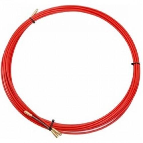 Протяжка кабельная (мини УЗК в бухте), стеклопруток, d=3,5мм 10 м красная REXANT 47-1010
