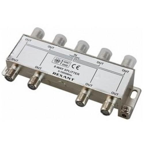 TV разветвитель на 8 выходов под F-разъем 5-1000 МГц REXANT (краб) 05-6005