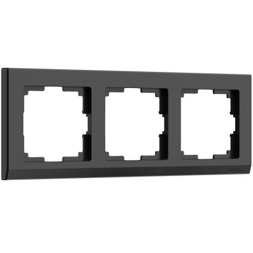Рамка 3 поста черный WL04-Frame-03 WERKEL