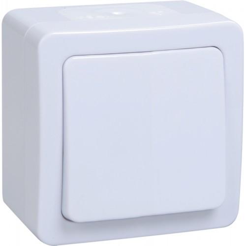 Выключатель ГЕРМЕС PLUS 1кл. открытой установки белый IP54 ИЭК