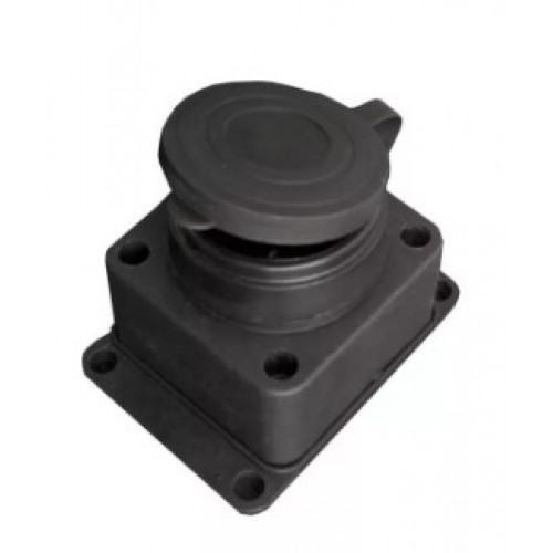 Розетка ЭЛЕКТРО/Universal/602229 1местн. с защитной крышкой каучук