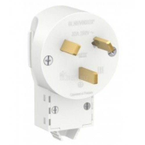 Вилка для электроплиты 32А белая Schneider Electric
