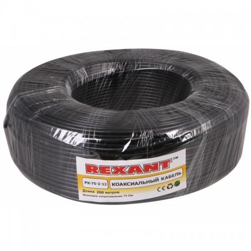 Кабель TV РК 75-4-11 А  (черный) Rexant 01-2693-1