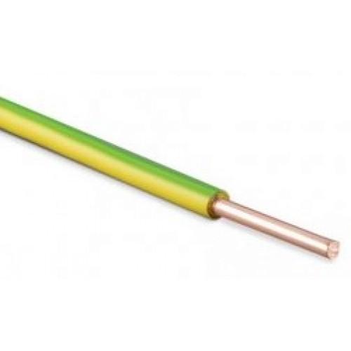 Провод ПВ 1 (ПуВ) 1х 6 (ж/зел.) для заземления ГОСТ