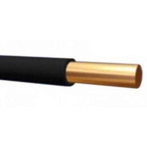 Провод ПВ 1 (ПуВ) 1х10 (ж/зел.) в черной изоляции для заземления ГОСТ