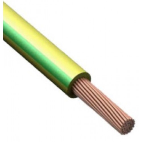 Провод ПВ 3 (ПУГВ) ГОСТ 1х6 (желто-зеленый для заземления)