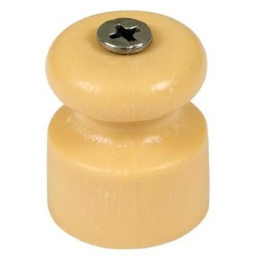 Изолятор для ретро-провода пластиковый  Песочное золото Greenel GE70017-32