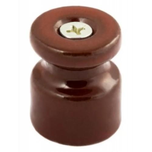 Изолятор для ретро-провода пластиковый коричневый GE70017-04
