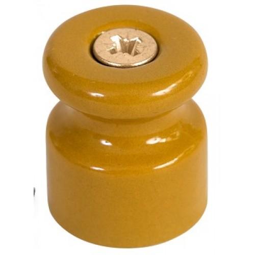 Изолятор для ретро-провода фарфоровый песочное золото Green/GE70021-32