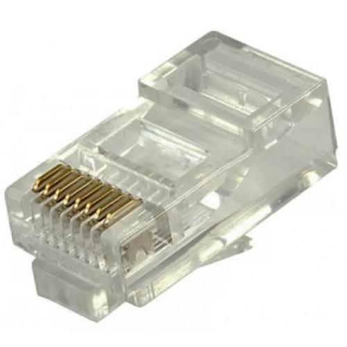 Коннектор RJ45 компьютерный обжимной 8Р8С экранированный RIPO 003-400007 AVS
