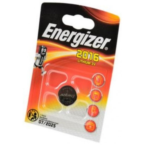 Элемент питания (батарейка плоская) CR2016 (1шт) Energizer
