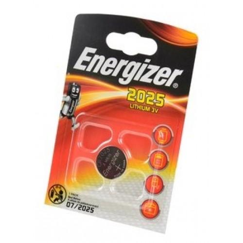 Элемент питания (батарейка плоская) CR2025 (1шт) Energizer