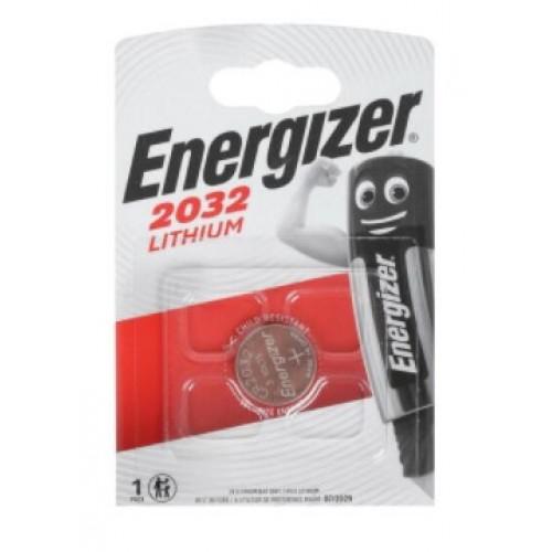 Элемент питания (батарейка плоская) CR2032 (1шт) Energizer