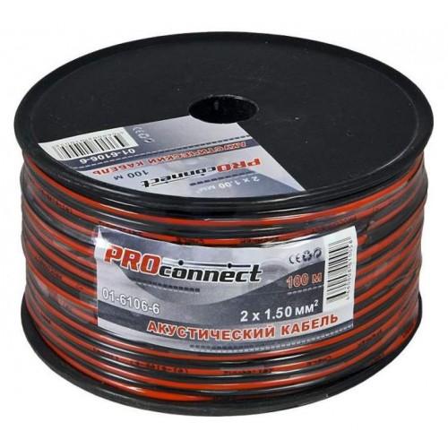 Кабель акустический Proconnect 2x1,5 красно-черный 01-6106-6