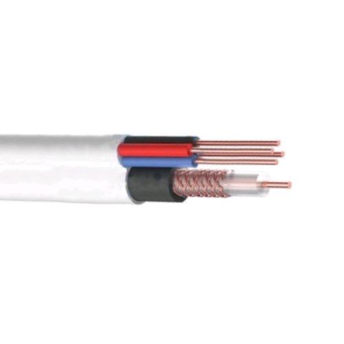 Кабель ККСВ-В+ 4х0,5мм2, белый (для видеонаблюдения ) REXANT 01-4021