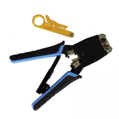 Кримпер профессиональный для обжима RJ45 RJ12 RJ11 RIPO-TOS229 009-100003