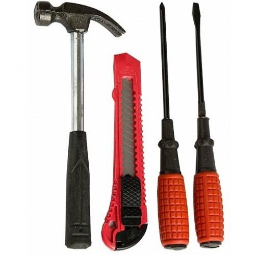 Набор инструментов (4 предмета: молоток, нож, 2 отвертки) DELTA ИР-2001/4
