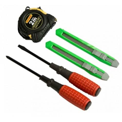 Набор инструментов (5 предметов: рулетка, 2 ножа, 2 отвертки) DELTA ИР-2002/5