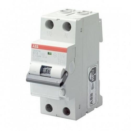 Автоматический выключатель диф. тока ABB 1п+N 2мод.С20A 30mA тип АС DS201 (2CSR255080R1204)