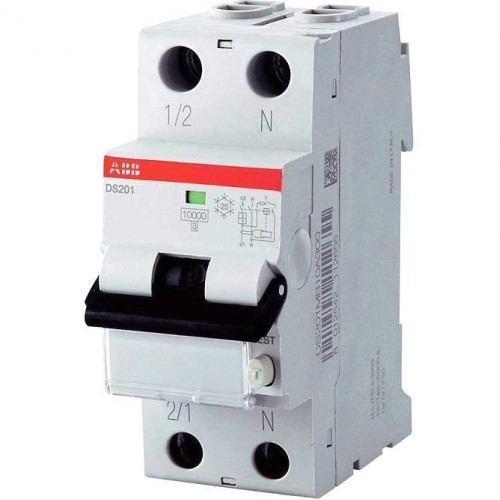 Автоматический выключатель диф. тока ABB 1п+N 2мод.С25A 30mA тип АС DS201 (2CSR255040R1254)