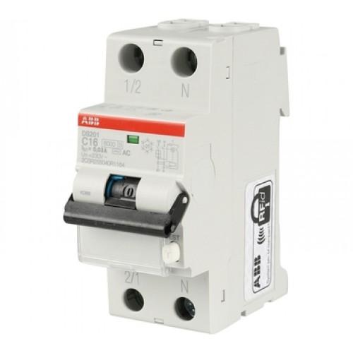 Автоматический выключатель диф. тока ABB 1п+N 2мод.С32A 30mA тип АС DS201 (2CSR255040R1324)