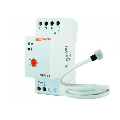 Датчик освещения (фотореле) ФРЛ-11 2-100Лк 20А на DIN-рейку TDM SQ0324-0019