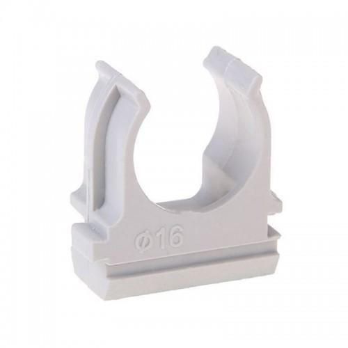 Держатель (клипса) CF16 серый (100шт/уп) промрукав 02716