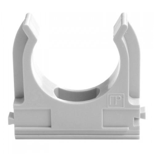 Держатель (клипса) CF32 серый (25шт/уп) промрукав 02732