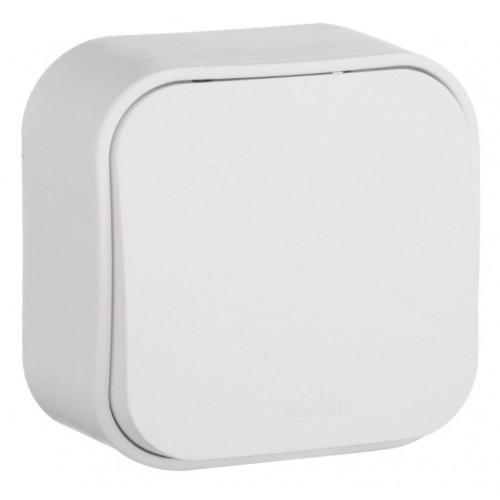 "Блок ""Выкл.1кл.+розетка"" белый IP44 QUTEO Legrand 782318"