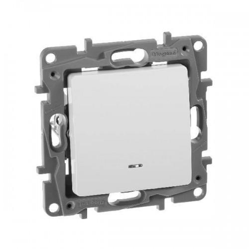 Выключатель 1кл. с подсветкой белый LEGRAND ETIKA 672203