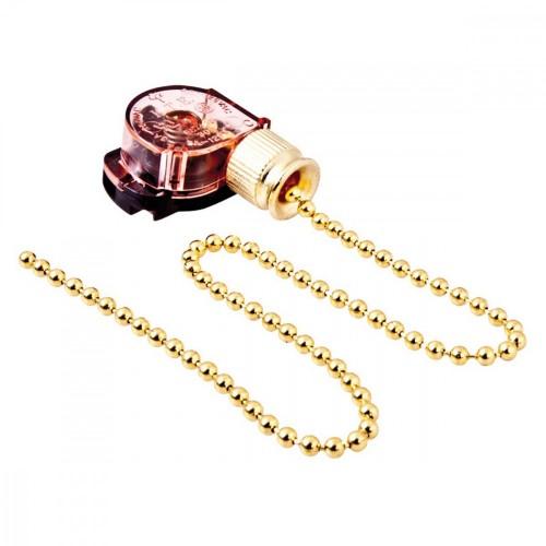 Выключатель с цепочкой золото для бра 220V 3A REXANT 06-0241-A