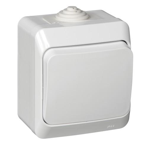 Выключатель ЭТЮД Schneider 1кл. белый/ВА10-041В IP44