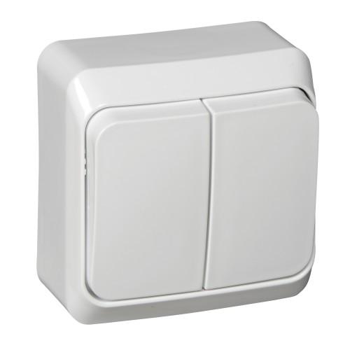 Выключатель ЭТЮД Schneider 2кл. белый/ВА10-002В (25шт.в упак.)