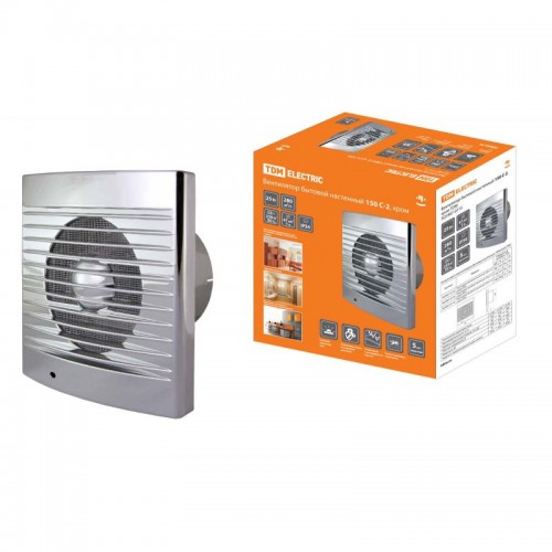 Вентилятор бытовой настенный 120 С-2, хром  TDM-SQ1807-0114