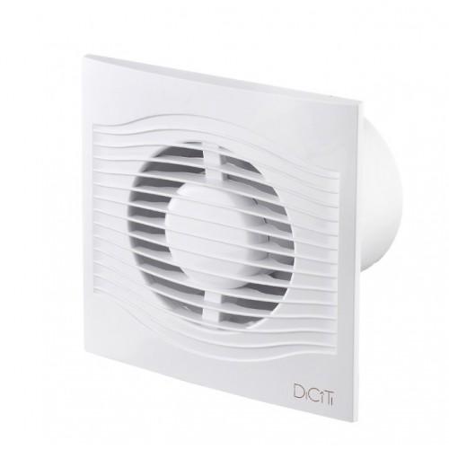 Вентилятор осевой вытяжной с обратным клапаном 100мм белый SLIM 4C