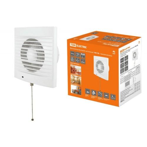 Вентилятор бытовой настенный 100 С-2, хром  TDM-SQ1807-0113