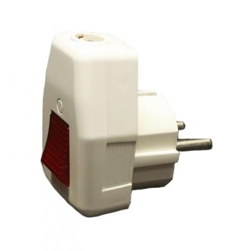 Вилка TDM угловая с выключателем 16А 250В SQ1806-0009