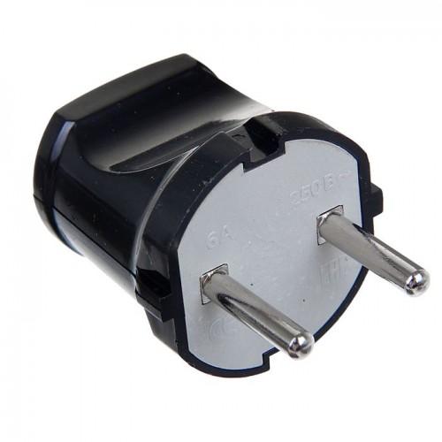 Вилка TDM б/з черная 6 А 250В SQ1806-002